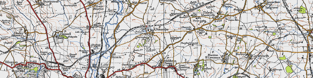 Old map of Chacombe in 1946