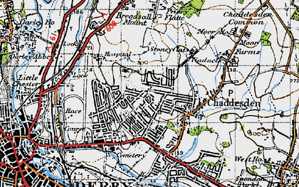 Old map of Chaddesden in 1946