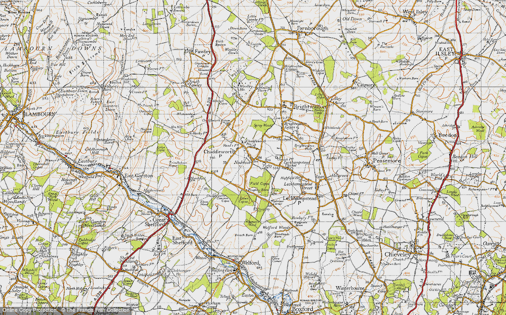 Old Map of Chaddleworth, 1947 in 1947