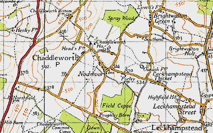 Old map of Chaddleworth in 1947