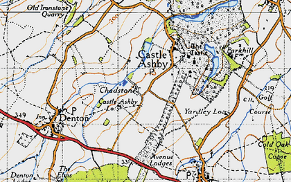 Old map of Avenue Lodges in 1946