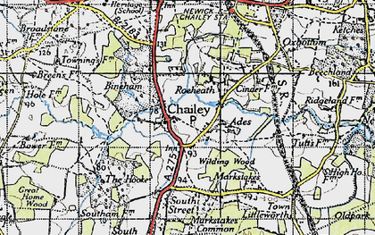 Old map of Ades in 1940