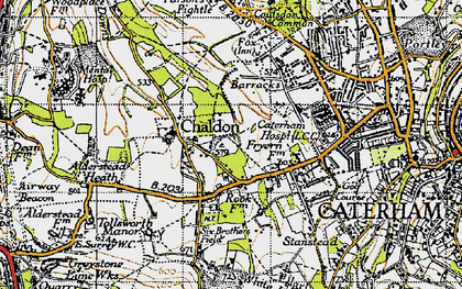 Old map of Alderstead Heath in 1946