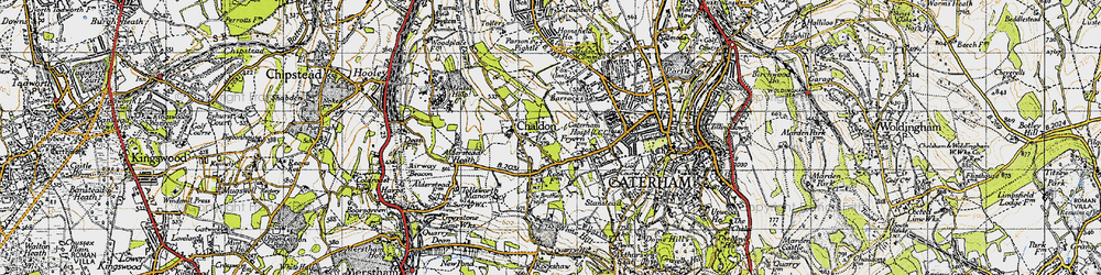 Old map of Tollsworth Manor in 1946