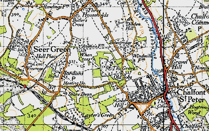 Old map of Chalfont Grove in 1945