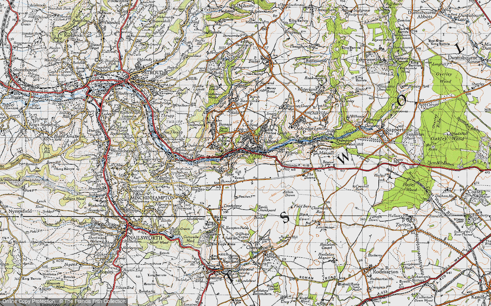 Old Map of Chalford, 1946 in 1946