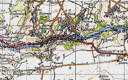 Old map of Chalford in 1946