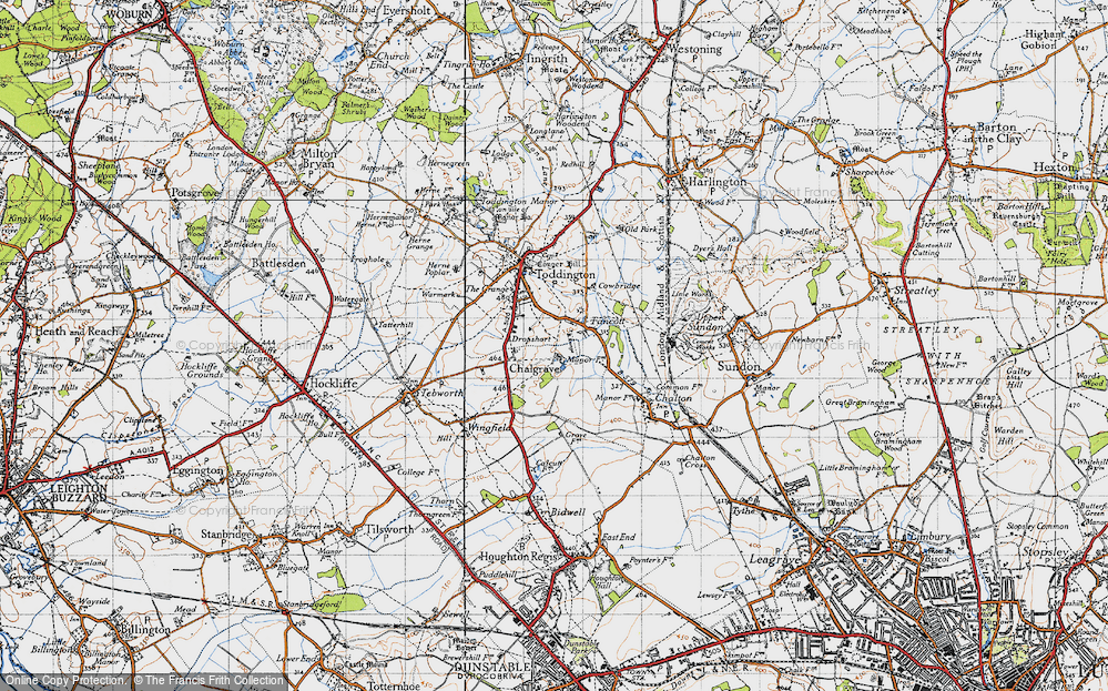 Old Map of Historic Map covering Toddington Service Area in 1946