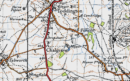 Old map of Chalgrave in 1946
