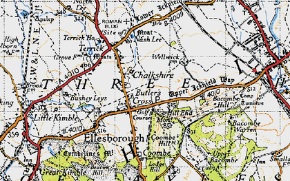 Old map of Chalkshire in 1946