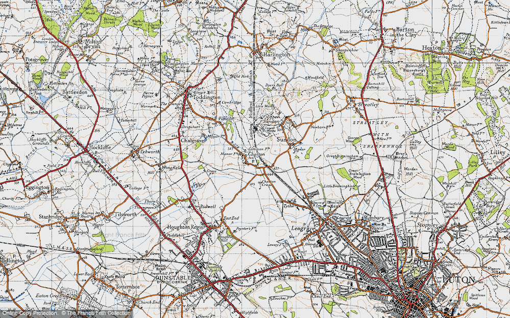 Old Map of Chalton, 1946 in 1946
