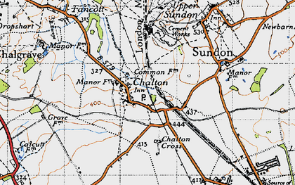 Old map of Chalton in 1946