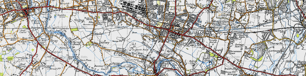 Old map of Chalvey in 1945