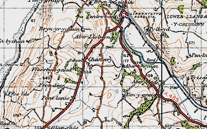 Old map of Abermad in 1947