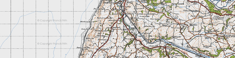 Old map of Chancery in 1947