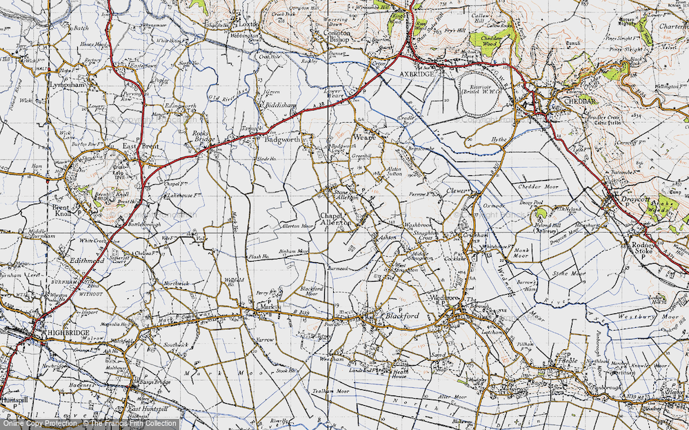 Old Map of Historic Map covering Allerton Moor in 1946