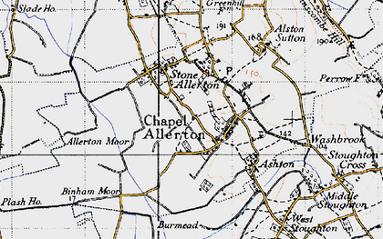 Old map of Allerton Moor in 1946