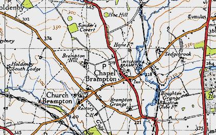 Old map of Chapel Brampton in 1946