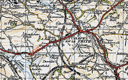 Old map of Chapel-en-le-Frith in 1947