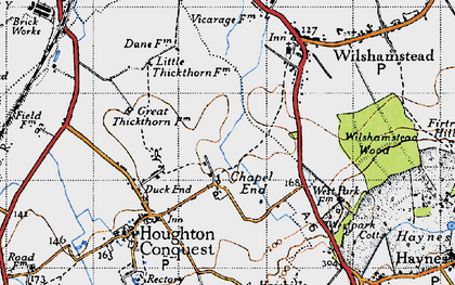 Old map of Chapel End in 1946
