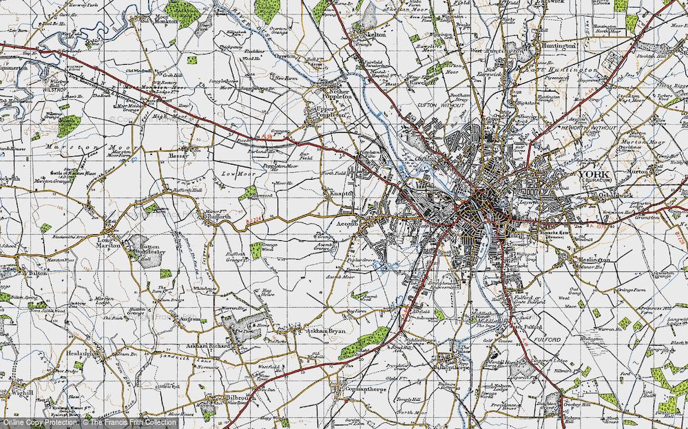 Old Map of Chapel Fields, 1947 in 1947