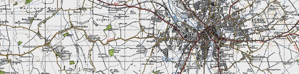 Old map of Chapel Fields in 1947