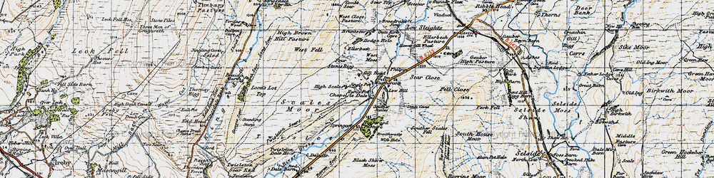Old map of Winterscales Beck in 1947