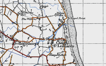 Old map of Chapel St Leonards in 1946