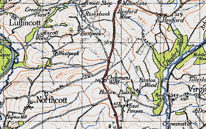 Old map of West Peeke in 1946