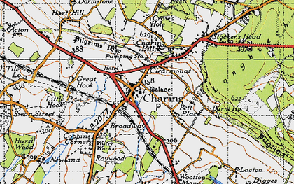 Old map of Charing in 1940