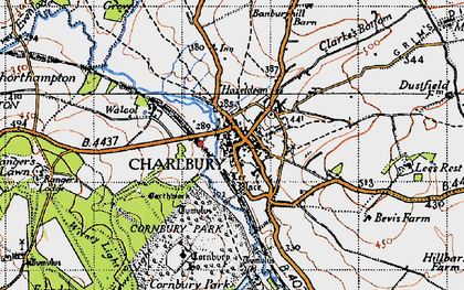 Old map of Lee's Rest in 1946