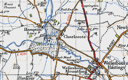 Old map of Charlecote in 1947