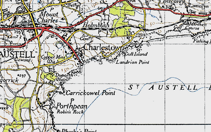 Old map of Charlestown in 1946
