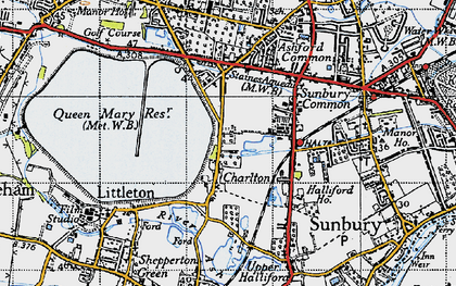 Old map of Charlton in 1940