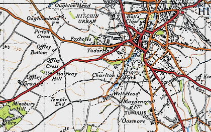 Old map of Charlton in 1946
