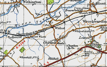 Old map of Lees, The in 1947