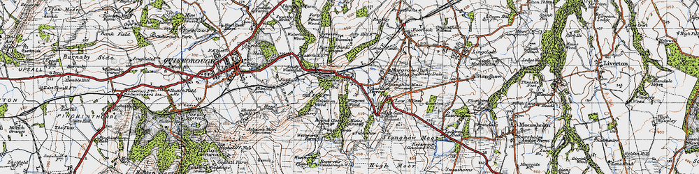 Old map of Westworth Wood in 1947