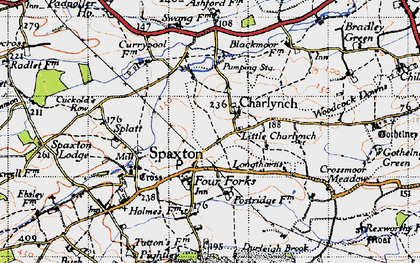 Old map of Ashford Resr in 1946