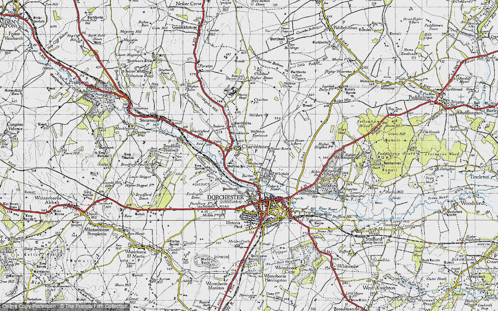 Old Map of Historic Map covering Leap Gate in 1945