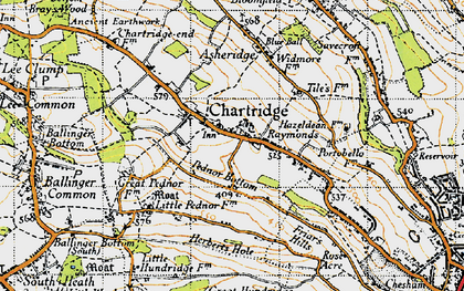 Old map of Chartridge in 1946