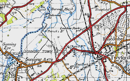 Old map of Charvil in 1947