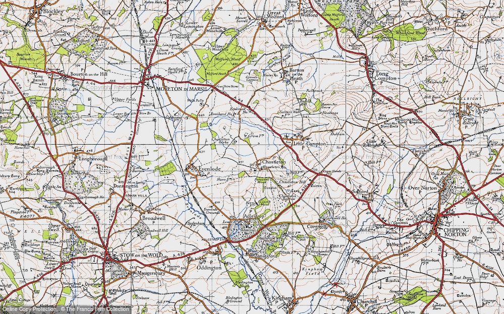 Old Map of Chastleton, 1946 in 1946