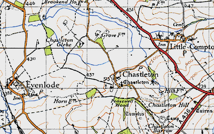 Old map of Chastleton in 1946