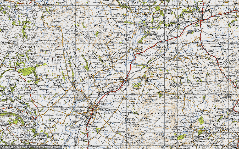 Old Map of Chatburn, 1947 in 1947