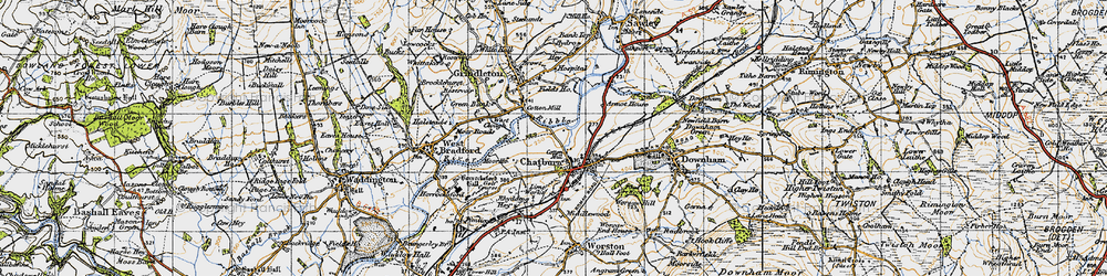 Old map of Chatburn in 1947