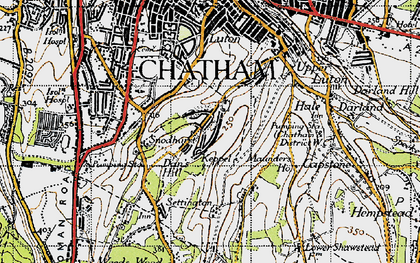 Old map of Chatham in 1946