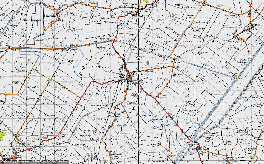 Old Map of Chatteris, 1946 in 1946