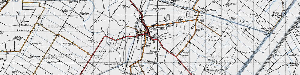 Old map of Chatteris in 1946