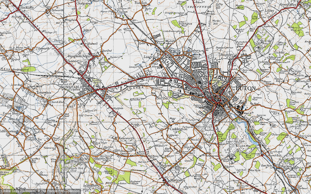 Old Map of Chaul End, 1946 in 1946