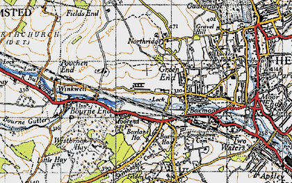 Old map of Chaulden in 1946
